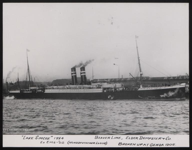 Photograph of Lake Simcoe, Beaver Line card