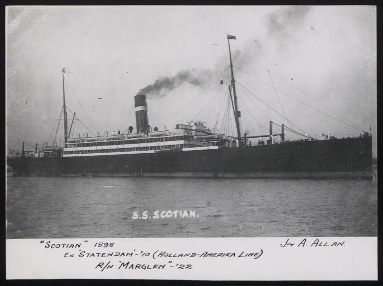 Photograph of Scotian, Allan Line card
