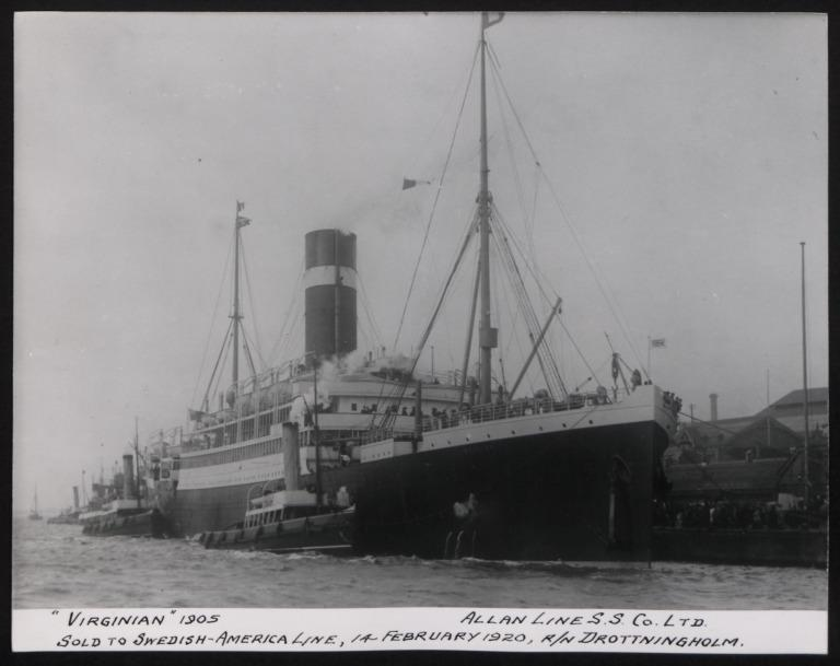 Photograph of Virginian, Allan Line card