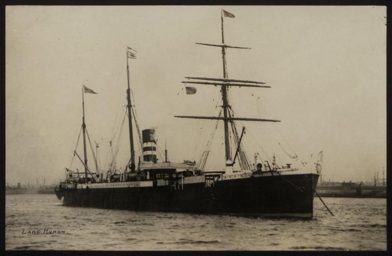 Photograph of Lake Huron, Beaver Line card