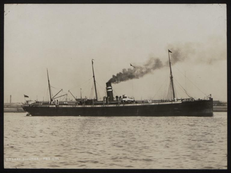 Photograph of Lake Superior, Beaver Line card