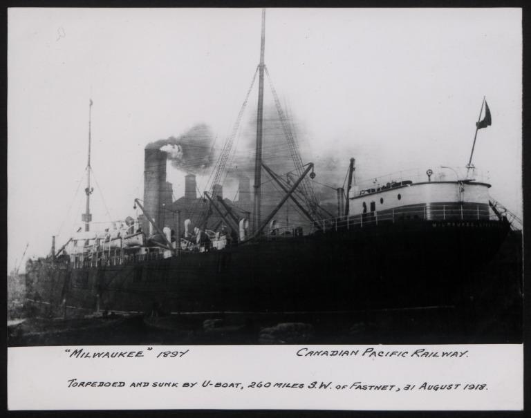 Photograph of Milwaukee, Beaver Line card