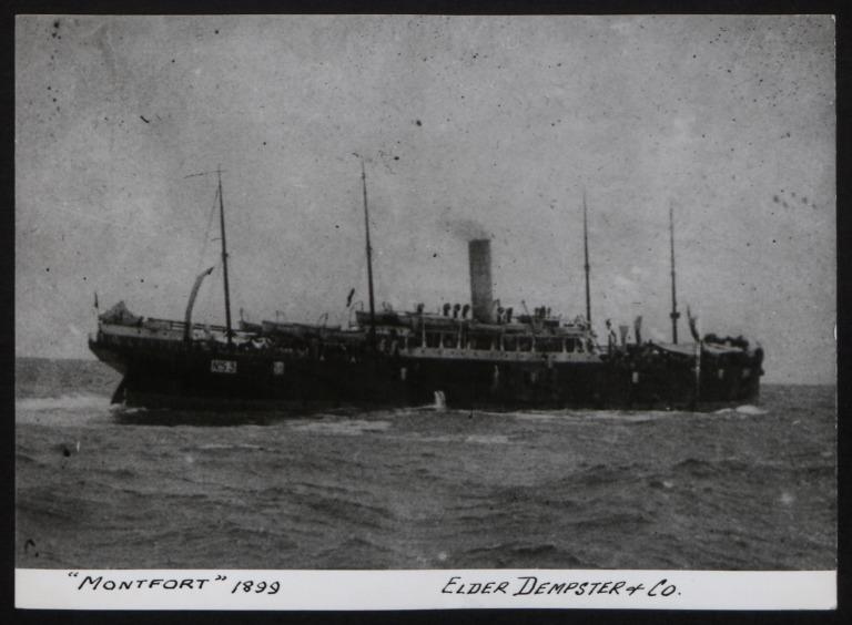 Photograph of Montfort, Beaver Line card