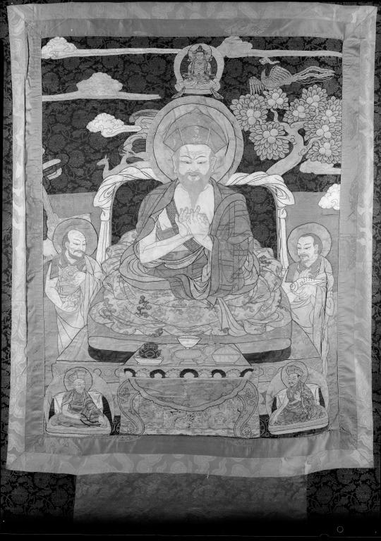 Thangka of  Zhabdrung Ngawang Namgyal card
