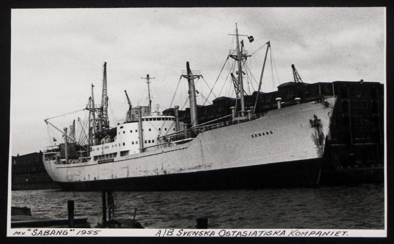 Photograph of Sabang, A/B Svenska Ostasiatiska Kompaniet card