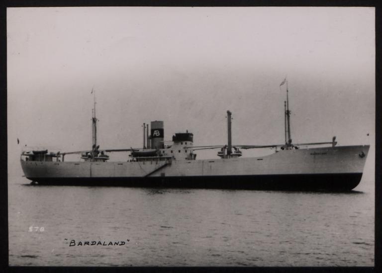 Photograph of Bardaland, A/B Svenska Orient Line card