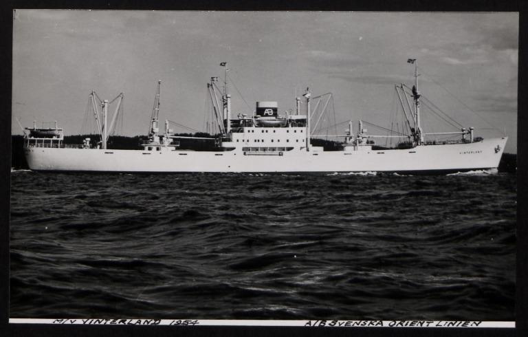 Photograph of Vinterland, A/B Svenska Orient Line card