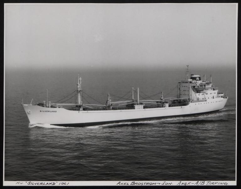 Photograph of Silverland, A/B Tirfing (Axel Brostrom) card