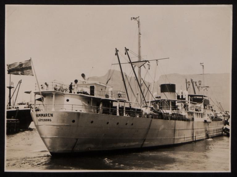 Photograph of Hammaren, Rederi A/B Transatlantic G Carlsson card