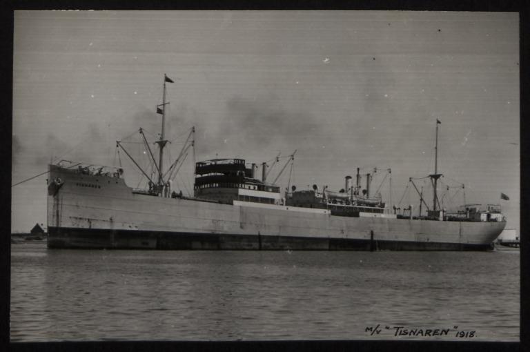 Photograph of Tisnaren, Rederi A/B Transatlantic G Carlsson card