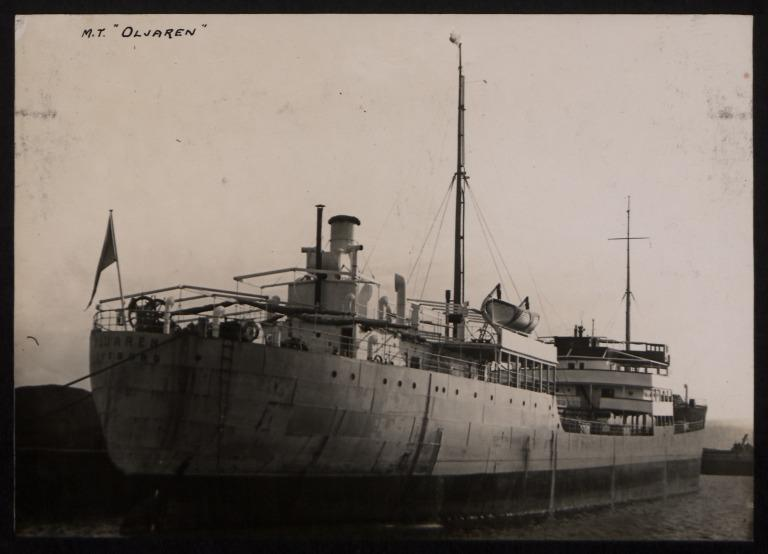 Photograph of Oljaren, Rederi A/B Transatlantic G Carlsson card