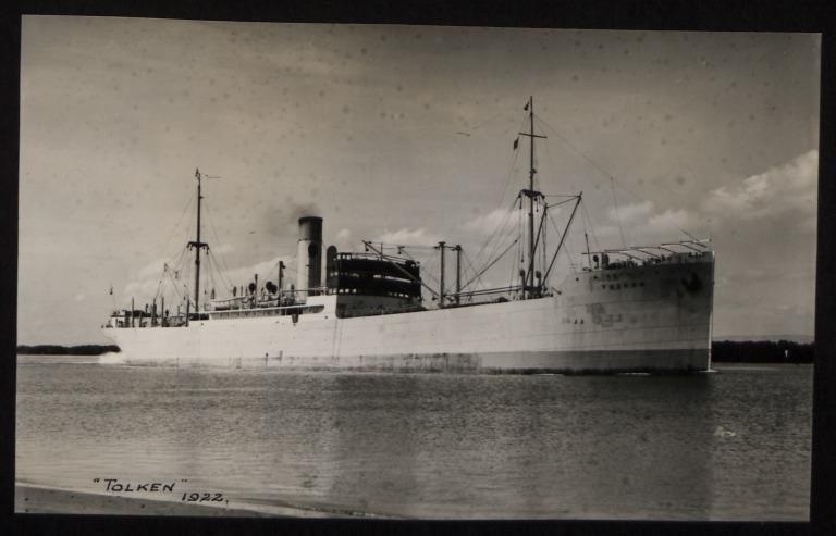 Photograph of Tolken, Rederi A/B Transatlantic G Carlsson card