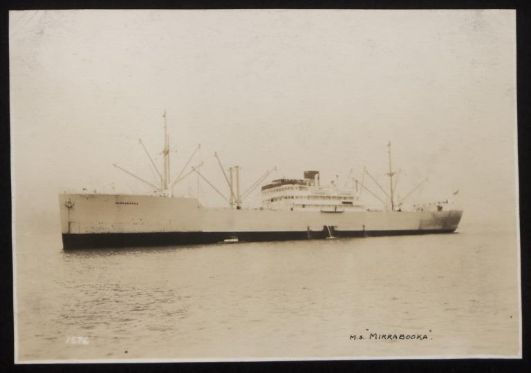 Photograph of Mirrabooka, Rederi A/B Transatlantic G Carlsson card