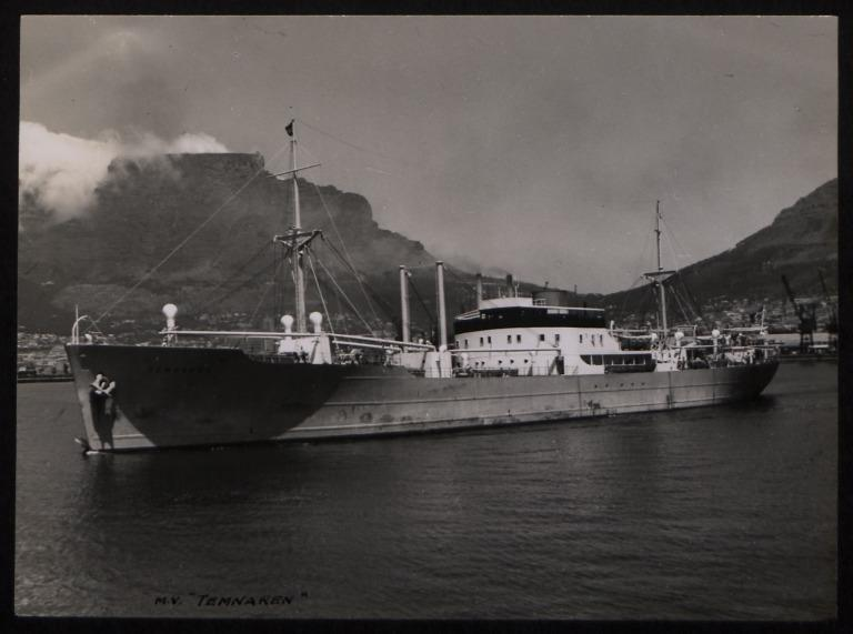 Photograph of Temnaren, Rederi A/B Transatlantic G Carlsson card