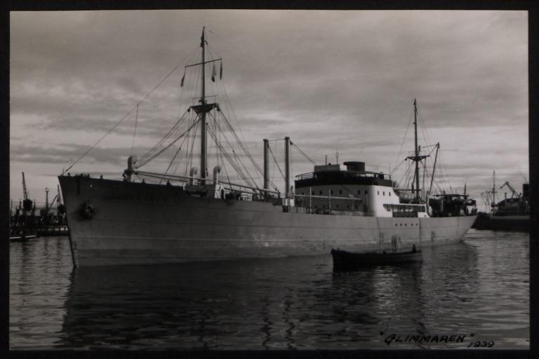 Photograph of Glimmaren, Rederi A/B Transatlantic G Carlsson card