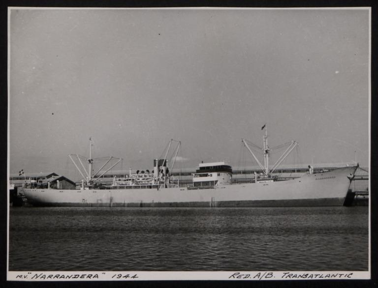 Photograph of Narrandera, Red A/B Transatlantic card