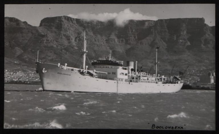 Photograph of Boolongena, Rederi A/B Transatlantic G Carlsson card