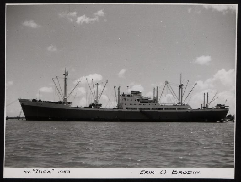 Photograph of Disa, Erik O Brodin card