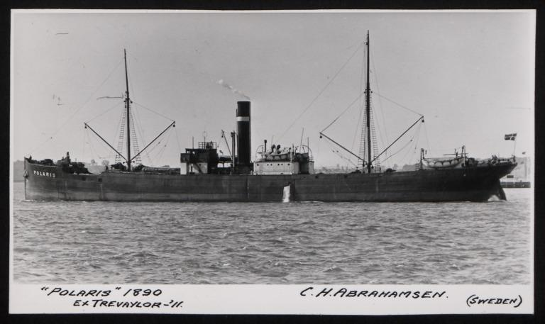 Photograph of Polaris (ex Trevaylor), C H Abrahamsen card