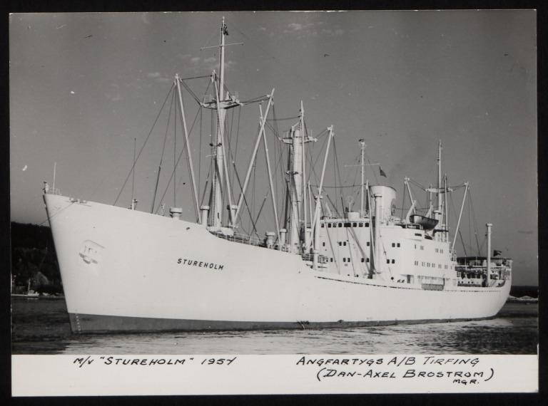 Photograph of Stureholm, A/B Tirfing (Axel Brostrom) card