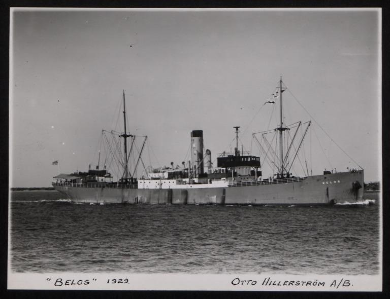 Photograph of Belos, Otto Hillerstrom card