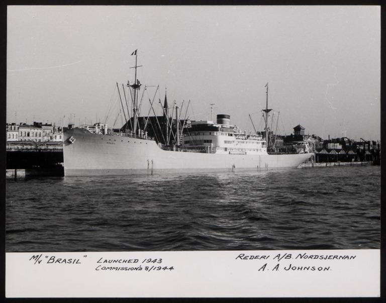 Photograph of Brasil, Johnson Line card
