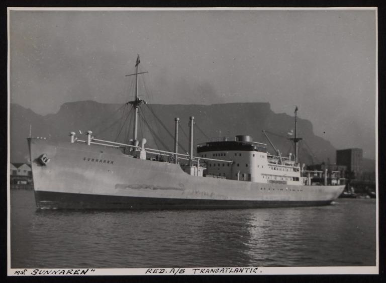 Photograph of Sunnaren, Red A/B Transatlantic card