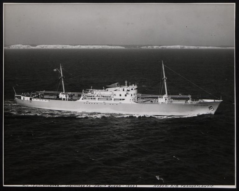Photograph of Coolangatta (launched as Gruit Queen 1949), Rederi A/B Transatlantic G Carlsson card