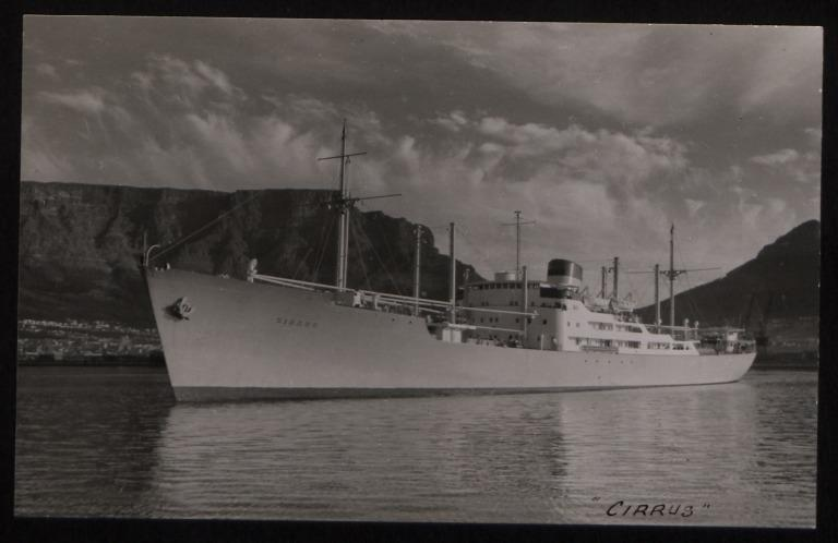 Photograph of Cirrus, Rederi A/B Transatlantic G Carlsson card
