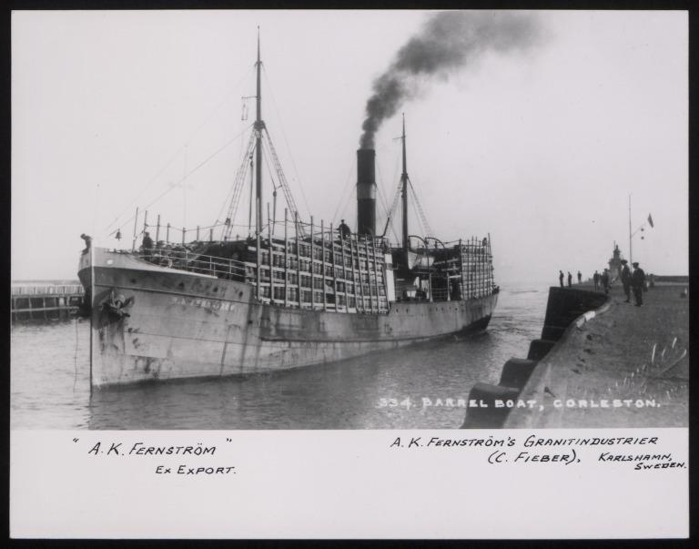 Photograph of A K Fernstrom (ex Export), A K Fernstrom card