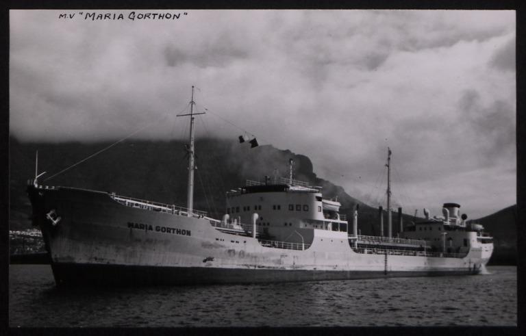 Photograph of Maria Gorthon, Rederi A/B Gylfe card