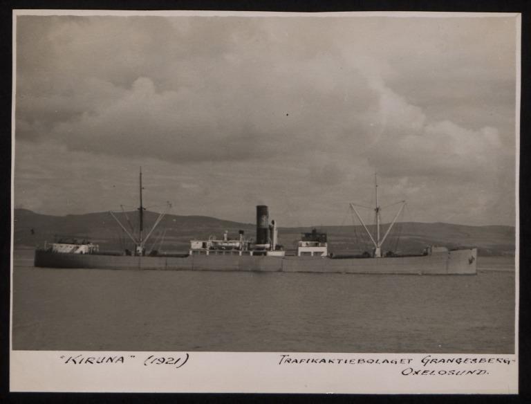 Photograph of Kiruna, Grängesberg-oxelösund Trafik A/B card