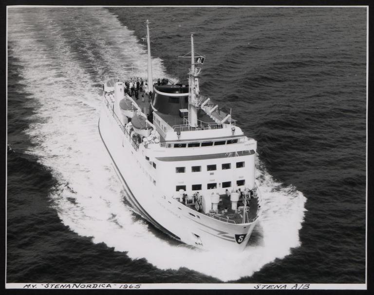 Photograph of Stena Nordica, Stena Line card