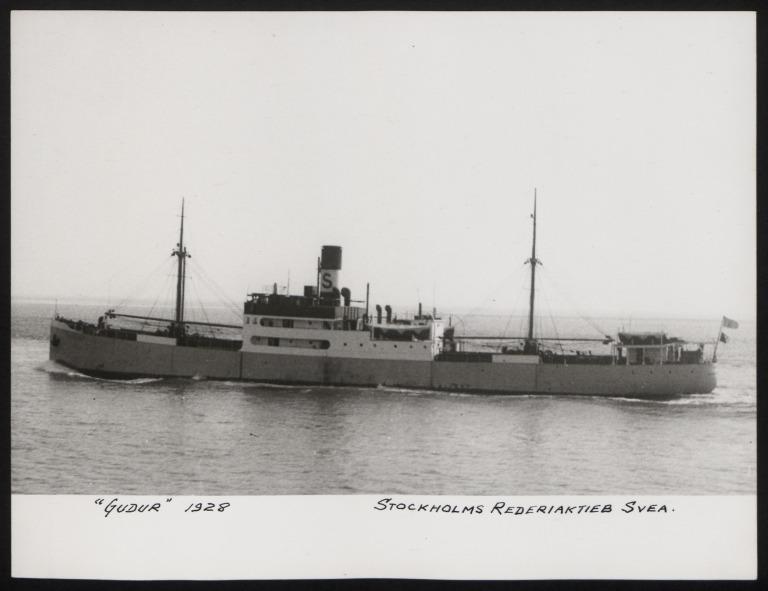 Photograph of Gudur, Stockholms Rederi Ab Svea card