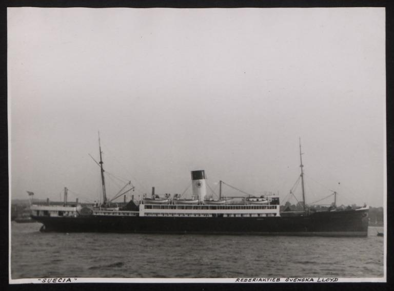 Photograph of Suecia, Swedish Lloyd card