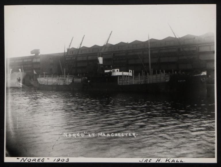Photograph of Noreg, Rederi A/B Tsi (Jac H Kall) card