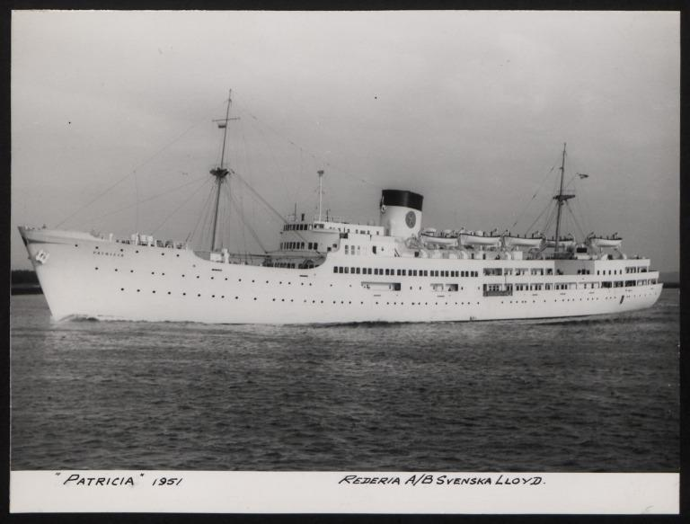 Photograph of Patricia, Swedish Lloyd card