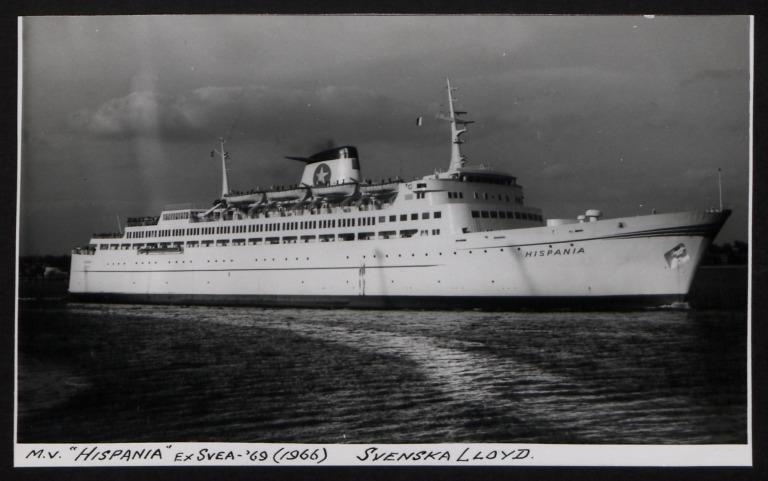Photograph of Hispania (ex Svea '69), Swedish Lloyd card