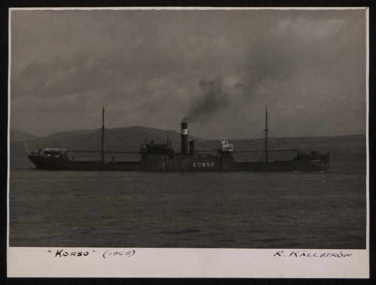 Photograph of Korso, Rederi A/B Rex (Ragnar Kallstrom) card