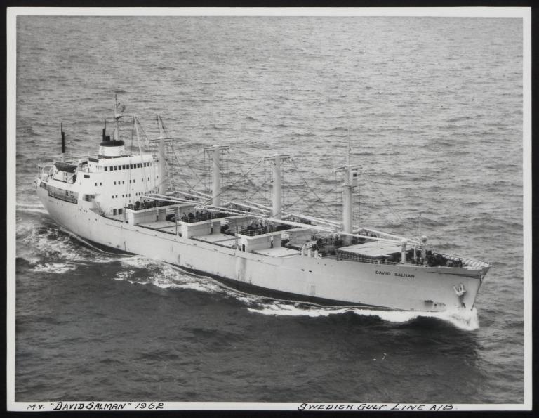 Photograph of David Salman, Swedish Gulf Line A/B card