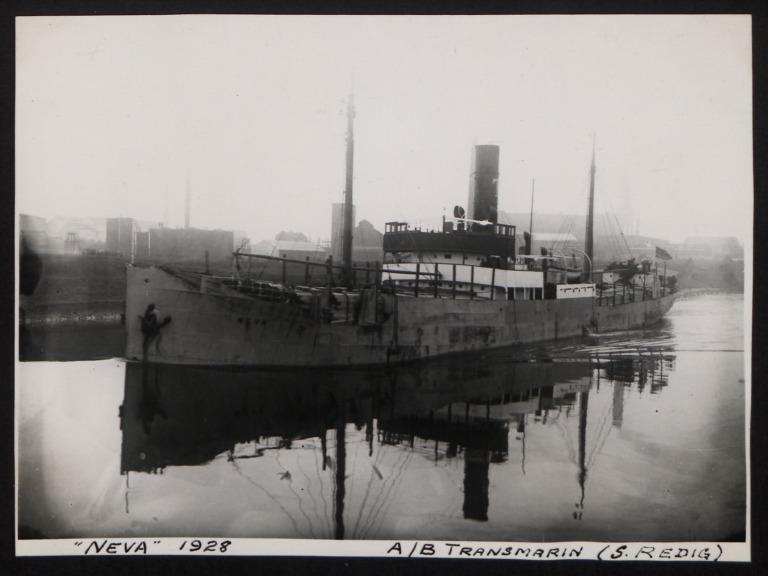 Photograph of Neva, A/B Transmarin (S Redig) card