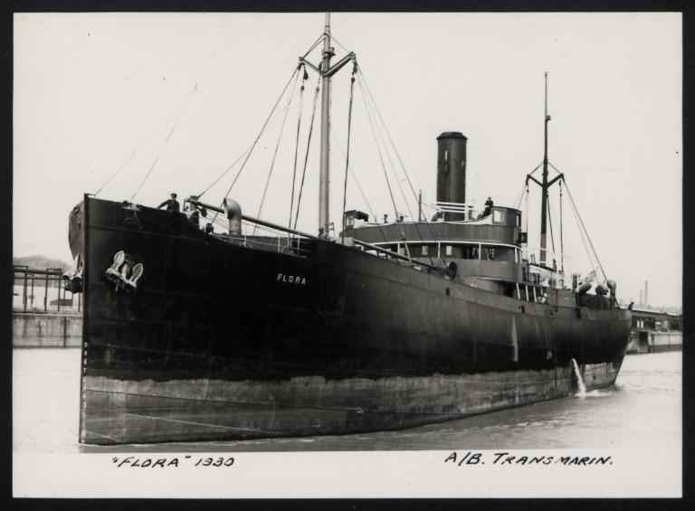 Photograph of Flora, A/B Transmarin (S Redig) card