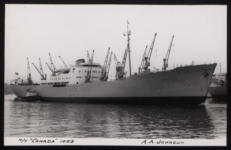 Photograph of Canada, Johnson Line card