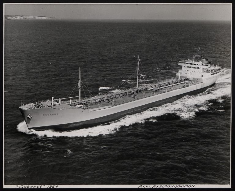 Photograph of Oceanus, Johnson Line card