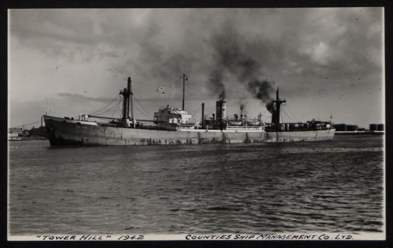 Photograph of Tower Hill, Counties Ship Management Company card