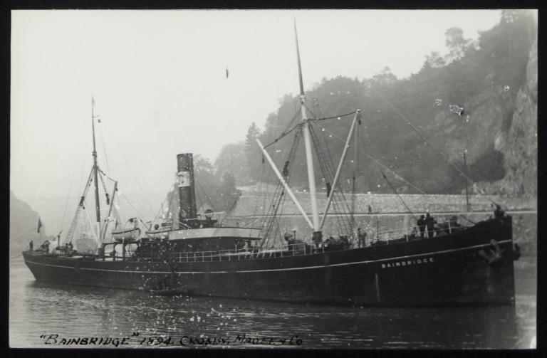 Photograph of Bainbridge, Crosby, Magee and Co card