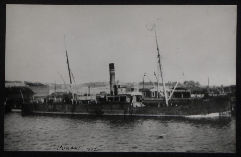 Photograph of Pukaki, Crosby and Co card
