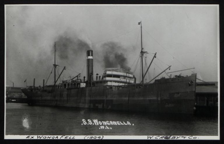 Photograph of Wonganella (ex Wongafell), Crosby and Co card