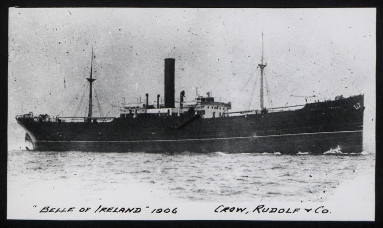 Photograph of Belle of Ireland, Crow, Rudolf and Co card