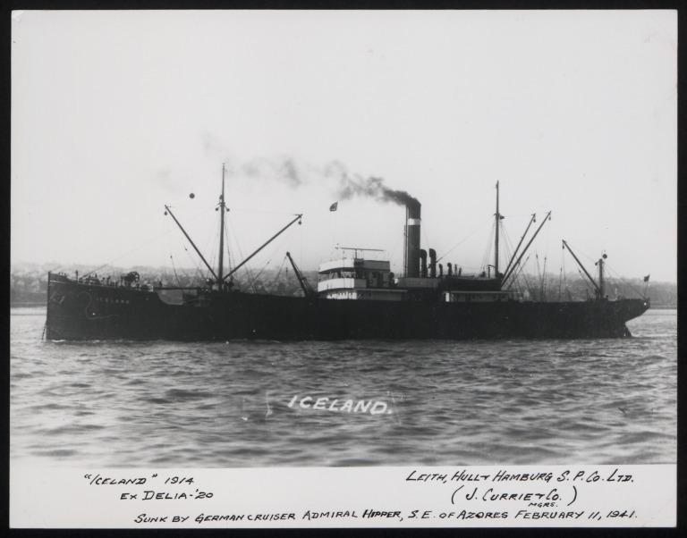 Photograph of Iceland, J Currie and Company card